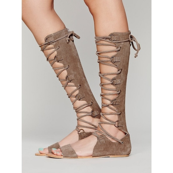 be74f7b910e2 Free People Shoes - Free People Decibel Lace Up Gladiator Sandal
